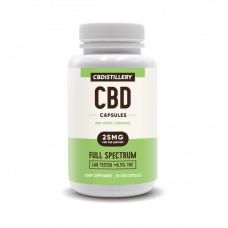 CBDISTILLERY 25 MG. Full Spectrum, Vegan Capsules.