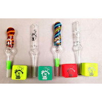 Road Runner Glass Honey Straws. Available in Clear or Worked.