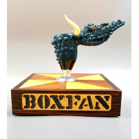Box Fan Slide and Hand Made Wooden Stand.  As Is.