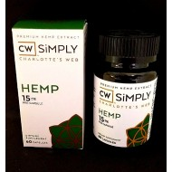 CW Simply. Charlotte's Web Hemp 15mg Capsule. (Please call to Order)