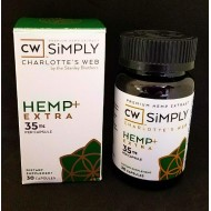 CW Simply. Charlotte's Web 35mg Hemp + Extra Capsules. (Please call to order)