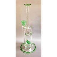 Envy Stemline Pop rocks Design with Frit Perc. Available in Green or Red.