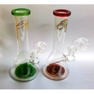 Envy Glass Mini Banger Rig.  Available in Red or Green.