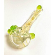 Hand Pipe by Multiverse. Fumed with Green or Purple Accents.