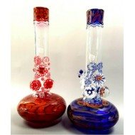 HVY Mini BHC Wave Water Pipe. Available in Red or Blue. 10″-11″