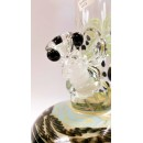 HVY Glass Coil Color Bubble Bottom with Marbles Water Pipe.
