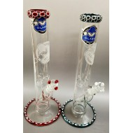 Dot Stack Water Pipe by HVY Glass