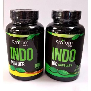 Kratom Kaps Indo in Capsules or Powder. 34.99 + Available in Store Only