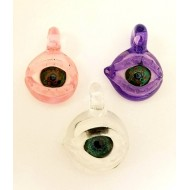 Pendant by Mako. Available in Clear, Pink or Purple.