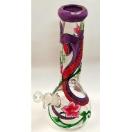Snake and Flower Painted Water Pipe.