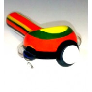 Hand Pipe by Empire Glassworks. Rasta Pokemon.