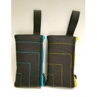 """Vatra 6.5"""" Padded Pouch. Availabe in Blue or Yellow Accent."""