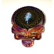 Pendant by Paul Katherman.  Gold Retti Air Trap Stealie Pendant with Opal Bolt.