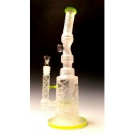 Water Pipe by Pulse. Sand Blasted, Double Barrel.