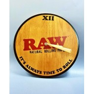 Raw Bamboo Clock