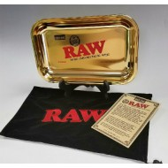Raw Gold Leaf Rolling Tray.