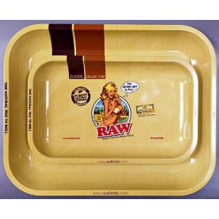 Raw Girl Rolling Tray. Available in Small or Large.
