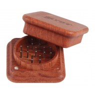 Grinder by RYOT 2 Piece Magnetic Rosewood Wooden Grinder. Square.